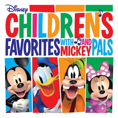 아이들이 좋아하는 디즈니 음악 모음 (Children's Favorites With Mickey And Pals) [레드 컬러 LP]