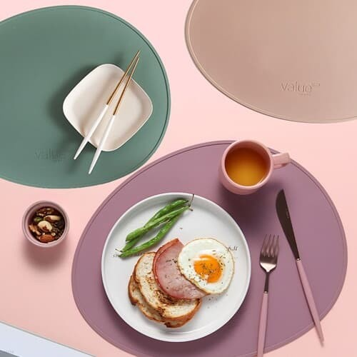 벨류 이사벨 조약돌실리콘 테이블매트 식탁매트6color