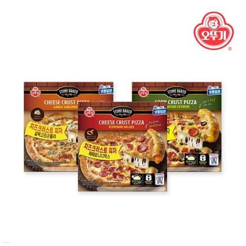 오뚜기 페페로니디럭스 1개+갈릭고르곤졸라 1개+시그니처익스트림 크러스트 피자 1개