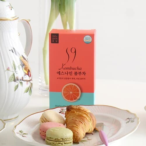 에스나인 콤부차 건강발효 콤부함량59% 자몽 5gx10포