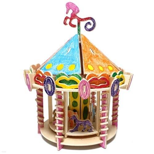 목공 놀이동산 회전목마 DIY키트 집콕만들기