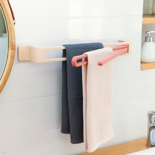 ABC생활 무타공 3단 접이식 수건 걸이 욕실 정리