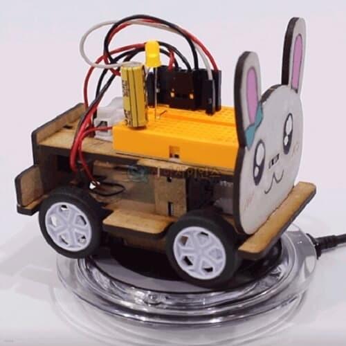 SA 토끼 무선충전 전기자동차(무선충전기 포함)(1인용 포장) 과학DIY 과학준비물