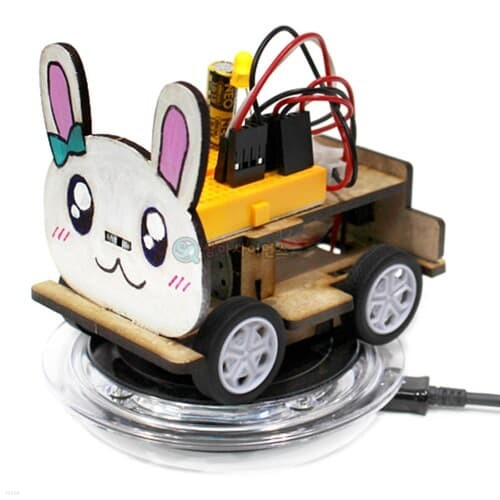 SA 토끼 무선충전 전기자동차(무선충전기 미포함)(1인용 포장) 과학DIY 과학준비물