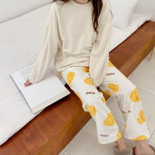 캐릭터 수면 잠옷 바지 파자마 3color [정품 오린이 귀여운 우정 여자 여성잠옷 겨울 긴바지 홈웨어]