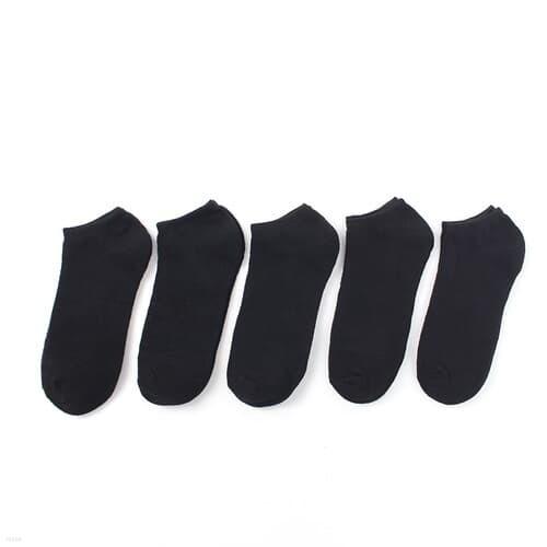소프트 여성 발목 양말 5켤레 스니커즈양말 블랙