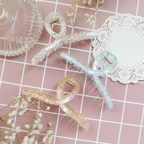 중형 달마시안 꼬임 디자인 헤어 집게핀6colors