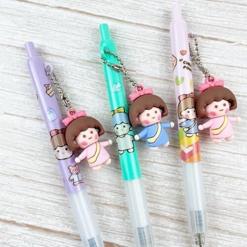 리본 소녀 장식 부드러운 볼펜 3colors