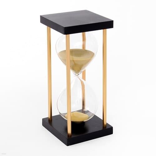 골드라인 우드 모래시계 15분 아날로그타이머