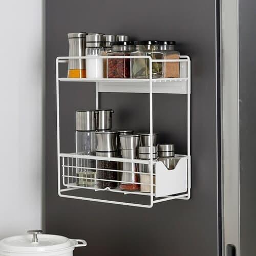 [홈앤하우스] 슬림 냉장고 자석선반 2단