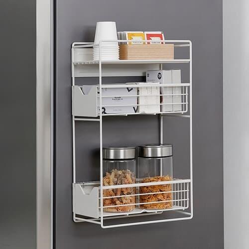 [홈앤하우스] 슬림 냉장고 자석선반 3단