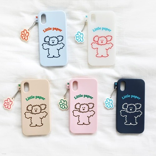 Little PaPer 리틀페퍼 실리콘 케이스 for iPhone 6/6S/7/8/SE2, X/XS