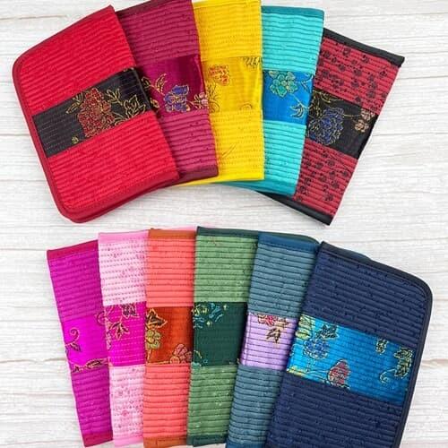 전통 디자인 자수 명함지갑 카드지갑