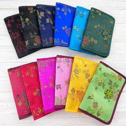 전통 무늬 꽃장식 카드지갑 12colors