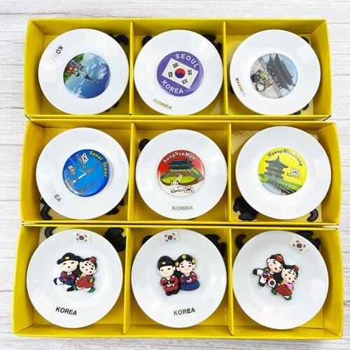 한국풍 그림 냉장고 자석 장식 세트