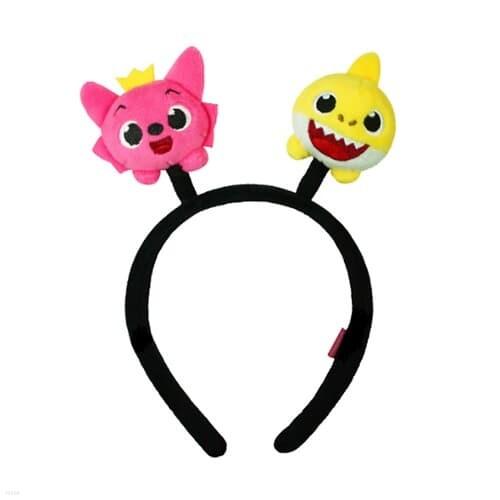 핑크퐁 아기상어 봉제 머리띠