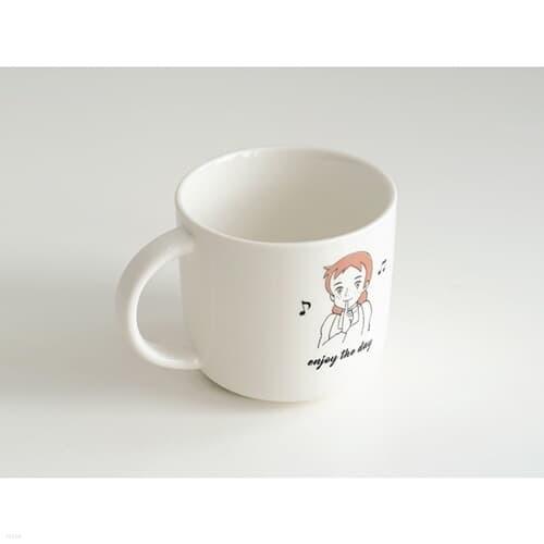 라운드 머그컵 - 빨강머리앤 엔조이