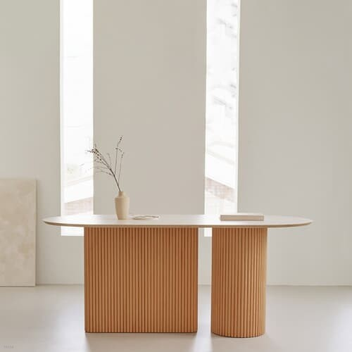 베네 호마이카 아일랜드 타원형 테이블 4인용 6인용 8인용 원목 식탁 국내제작 5size