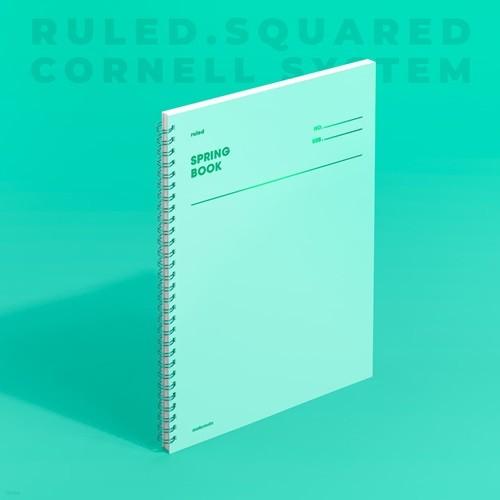 [모트모트] 스프링북 컬러칩 - 그리너리 (룰드)
