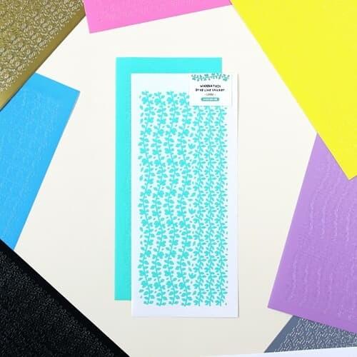 워너디스 드롭 라인 풀잎 스티커 10가지 컬러 세트
