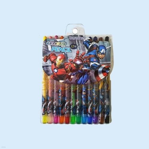 마블 어벤져스 항균코팅처리 12색 색연필