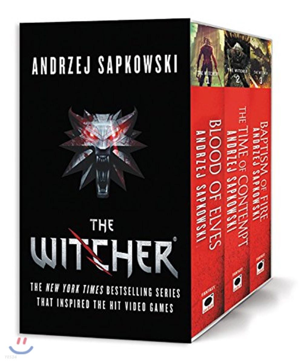 The Witcher Boxed Set: Blood of Elves, the Time of Contempt, Baptism of Fire 넷플릭스 위쳐 원작 소설
