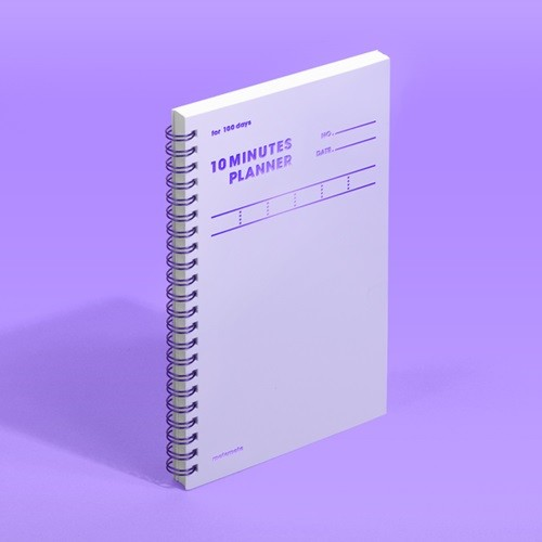 [모트모트] 텐미닛 플래너 100DAYS 컬러칩 - 바이올렛