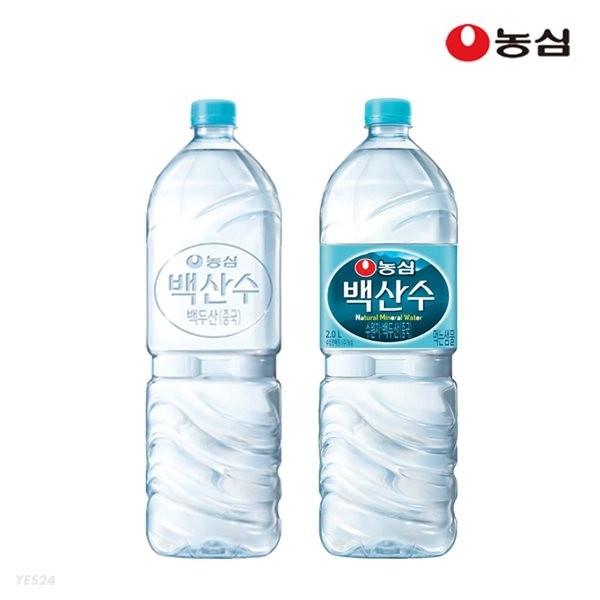 농심 백산수 2L x 6병 생수 물