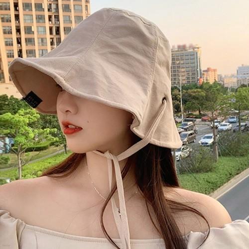 라엣 여성 자외선 햇빛차단 러블리 끈 벙거지 모자