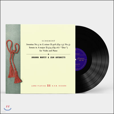 Johanna Martzy 슈베르트: 바이올린과 피아노를 위한 작품 2집 - 요한나 마르치 [LP]