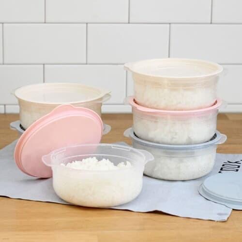 심플쿡 냉동밥 전자렌지용기(600ml) 8개