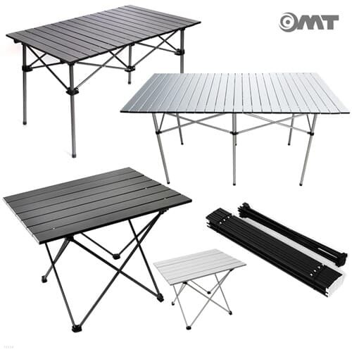 OMT 휴대용 접이식 알루미늄 폴딩 롤 캠핑선반 5types