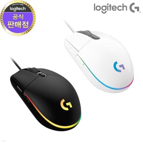 [로지텍코리아] 정품 유선 게이밍 마우스(G102)2세대/LIGHTSYNC/블랙/화이트