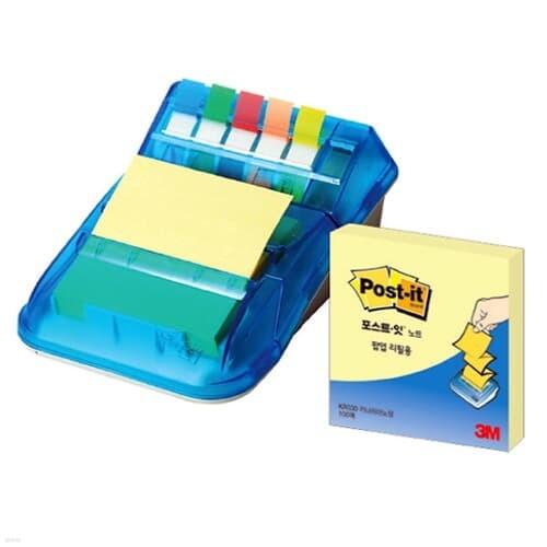 [3M] 포스트잇 팝업디스펜서 KR-2001 76mmx76mm(1개)+플래그5색+디스펜서(1개)