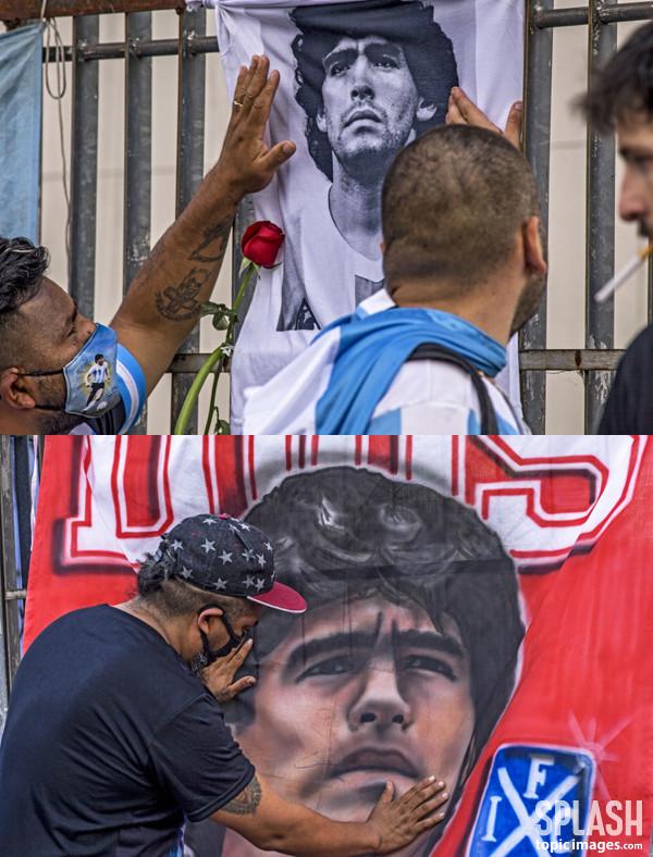마라도나, 현 시각 애도물결.. 슬픔에 잠긴 아르헨티나